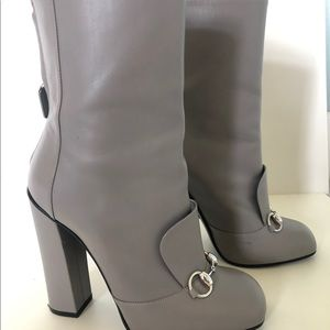 b52a21afc29 Gucci Lillian Hordebit Leather Ankle Boots